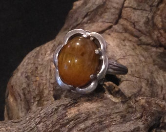 Vintage Tiger Eye Sterling Ring