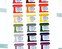 Kitchen Mixer/Baking Planner Stickers for Erin Condren, Happy Planner, Filofax, Scrapbooking