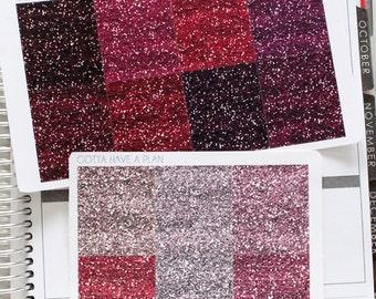 """Planner Stickers Pink """"Glitter"""" Headers for Erin Condren, Happy Planner, Filofax, Scrapbooking"""