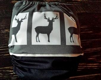 PRE-COMMANDE Couche Lavable à poche  taillone size unique / cloth diaper / pocket diaper / 10 - 40 lb