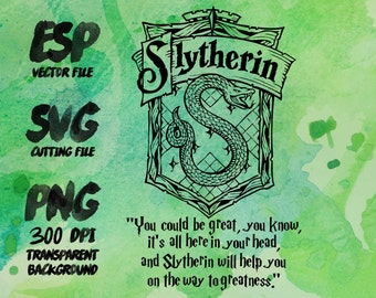 Slytherin home logo slogan Clipart , SVG Cutting , ESP Vectors files , T shirt , iron on , sticker ,Personal Use