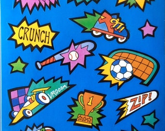 Sports stickers, football, soccer, basketball, baseball, roller blade & other sports