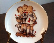 Vintage M.J. Hummel - Follow The Leader - Reutter Porzellan Miniature Plate - Made in Germany - Decorative Plate - Gift for the Collector
