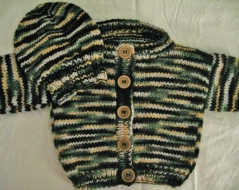 6-9 Month Infant Baby Sweater - Camouflage (Green, Yellow)