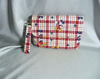 PRICE REDUCED: Diaper Clutch, Wristlet, Zippered Pouch, Mickey Mouse