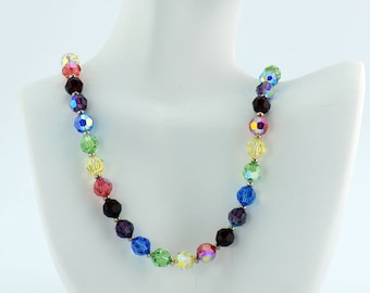 Rainbow Crystal Necklace - N855