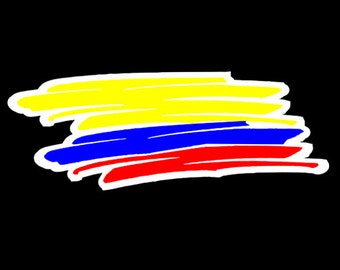 Colombian Flag sketched Car sticker