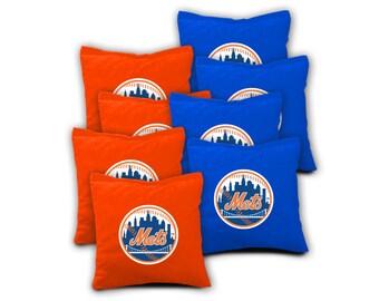 NEW YORK METS Set of 8 Regulation Cornhole Bags Bean Bag Toss
