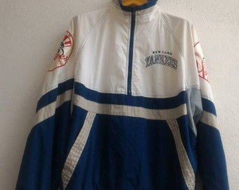 Vintage Starter New York Yankees Major Baseball League Club Sport Pullover Bomber Jacket Winbreaker Hip Hop Swag Raglan