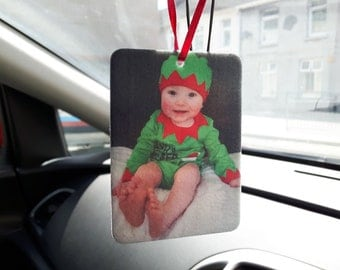 Custom in-car Air Fresheners, Photo air fresheners,  Valentines Day Car Freshener, Christmas air freshener, Personal Message air freshener,