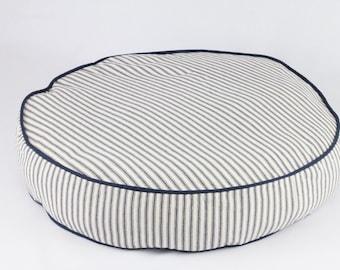 Large Qurlup Ticking Dog Bed