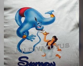 Aladdin and Genie birthday shirt