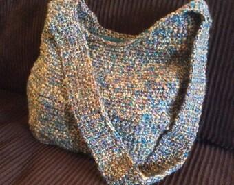 Crochet Hobo Purse, Handbag