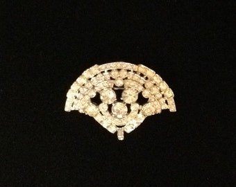 Rhinestone Brooch Costume Jewelry Fashion Jewelry Vintage Bling