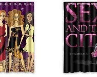 sex and the city tv show shower curtain HBO carrie bradshaw samantha jones charlotte york miranda hobbs sarah jessica parker new 12 rings