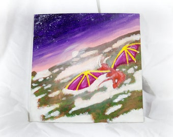 Dragon Sunset Acrylic 10X10 Artboard