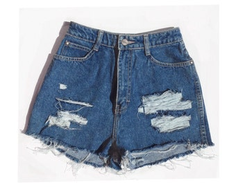 Ripped Jean shorts - distressed jean shorts
