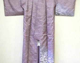 牛首紬Ushikubi pongee light purple