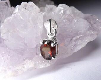 Natural garnet Silver Pendant