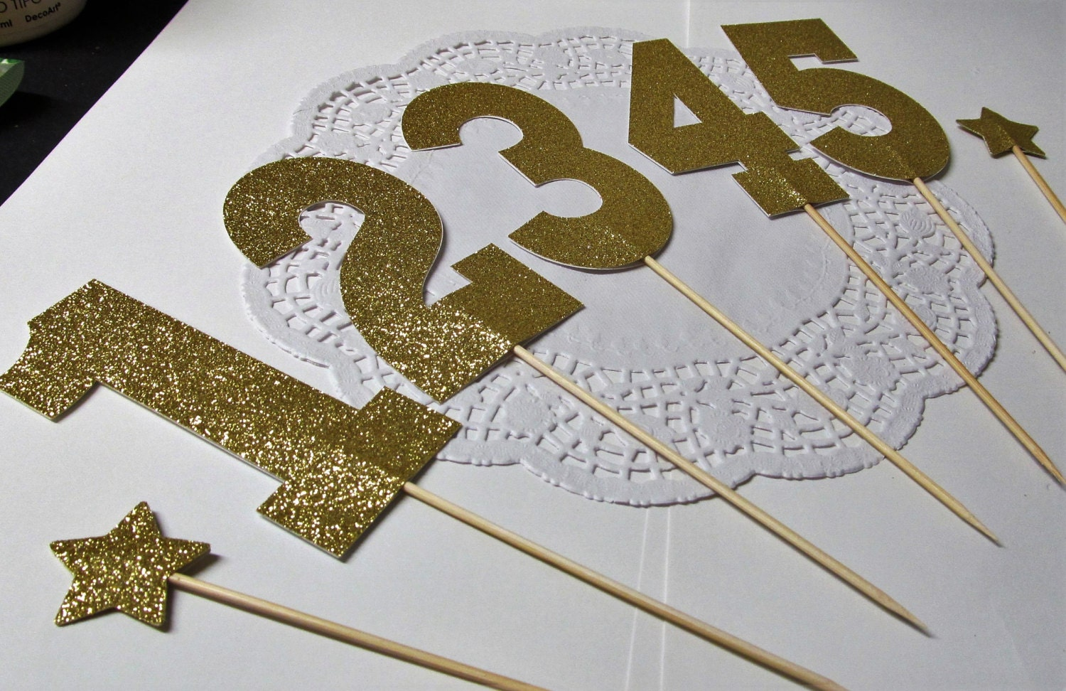 Cake Decor Numbers : Number Cake Toppers 1 to 100 Food Picks Table Numbers