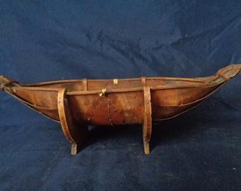 Vintage Wooden Serving Boat