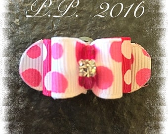 "5/8"" x 1"" 1/2"" Top Knot Dog Bow"