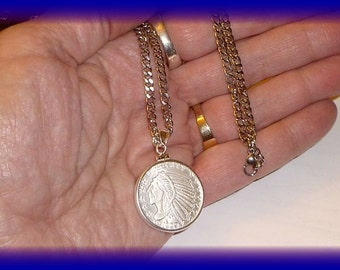 Man's chain with 1/4 oz Silver Round