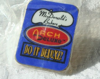 McDonalds Pin, Arch Deluxe McDonald's Tie Tac, Collectible McDonalds Pin vintage McDonalds Pin, McDonalds Advertising pin, Do It Deluxe pin