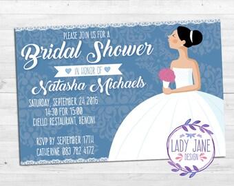 Bridal Shower Digital Printable Invitaion
