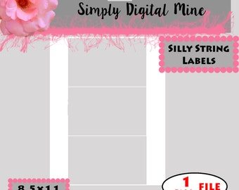 YOU Design!!! .. silly string labels Templates!!