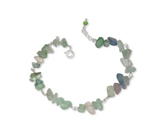Bracelet - handmade - 925 Silver - gemstones