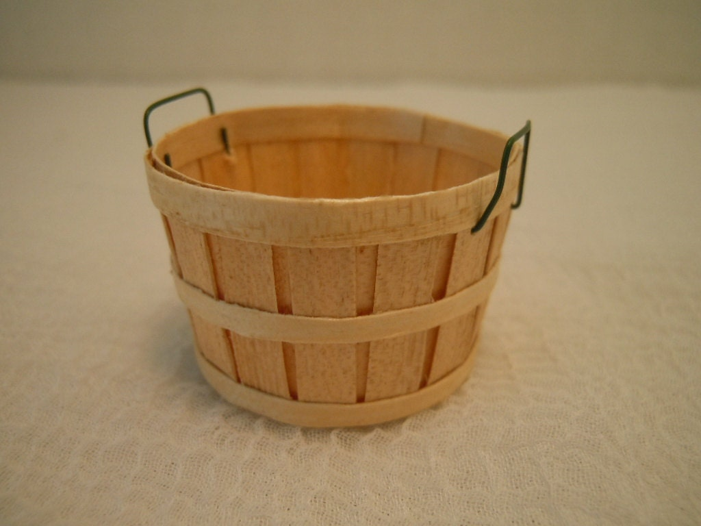 Handmade Small Baskets : Miniature bushel basket artisan handmade by