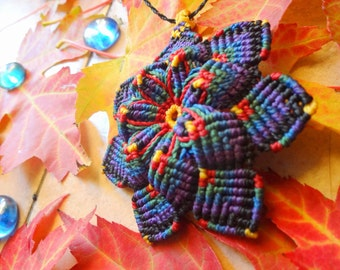 Mandala pendant to macrame, 3D effect