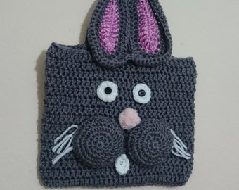 Homemade Bunny Crocheted Laptop/Tablet Bag