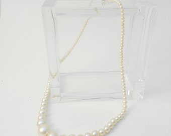 Vintage Faux Pearl Necklace, Wedding Jewellery