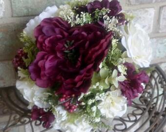 Burgandy Rose Bridal Bouquet