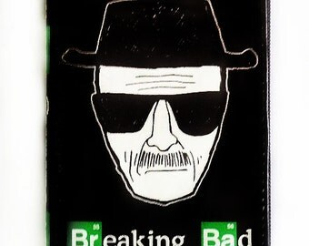 Black and White Heisenberg Pleather Wallet, Zippered Wallet, Breaking Bad Wallet, Zippered Pouch, Spacious Wallet, Gift for Everyone