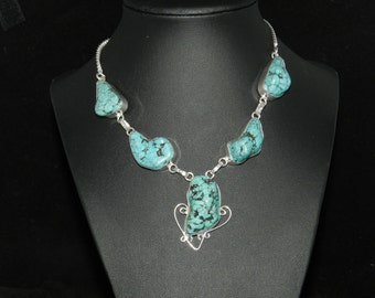 FT001 Turquoise Stone  Necklace