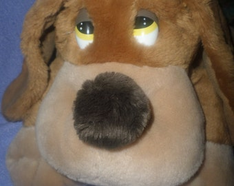 "Vintage Russ Dog plush Samuel  14""  with ""eyelids"""