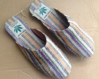 Eco Friendly Natural Bohemain Pure Hemp Slippers