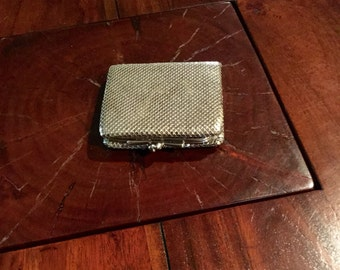 Chrome Mesh Wallet  & Coin Purse designed in Whiting Davis style