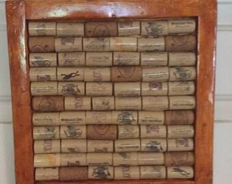 Framed wine corks 8x8