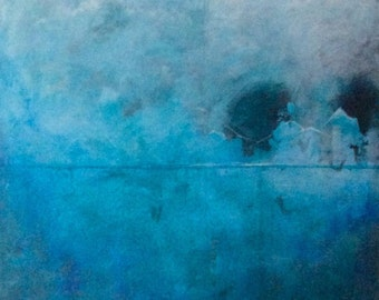 """Painting No.4 - Original abstract acrylic painting on canvas 34x47"""""""