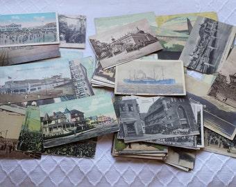 Antique Postcards Lot of 60 New Jersey Boardwalk, Victorian Postcards lot New Jersey Boardwalk  plus Europe