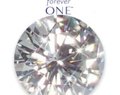 Loose Round 5mm-10mm Forever One™ Moissanite Faceted Gem Stone Created by Charles and Colvard®