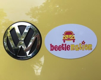 Beetle Nation Custom Car Magnet