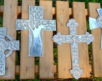 Pewter Cross // Large Pewter Cross // Wall hanger