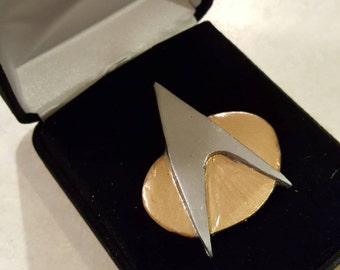 Star Trek Comm Badge with Velvet Box