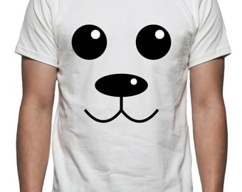 Bear Face Onesie or Shirt Design, SVG, DXF, EPS Vector files for use with Cricut or Silhouette Vinyl Cutting Machines