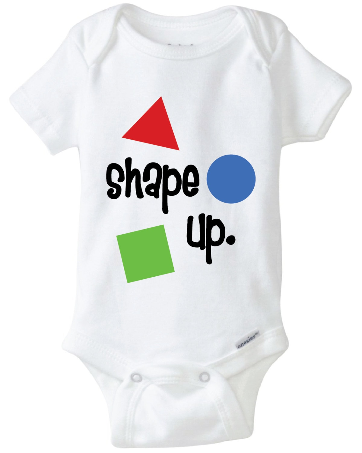 Shape Up Baby Onesie Design Svg Dxf Eps Vector Files For